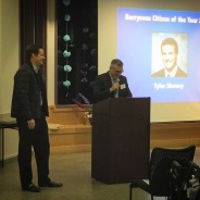 Rafael Sabic introduces Citizen of the Year Tyler Shewey
